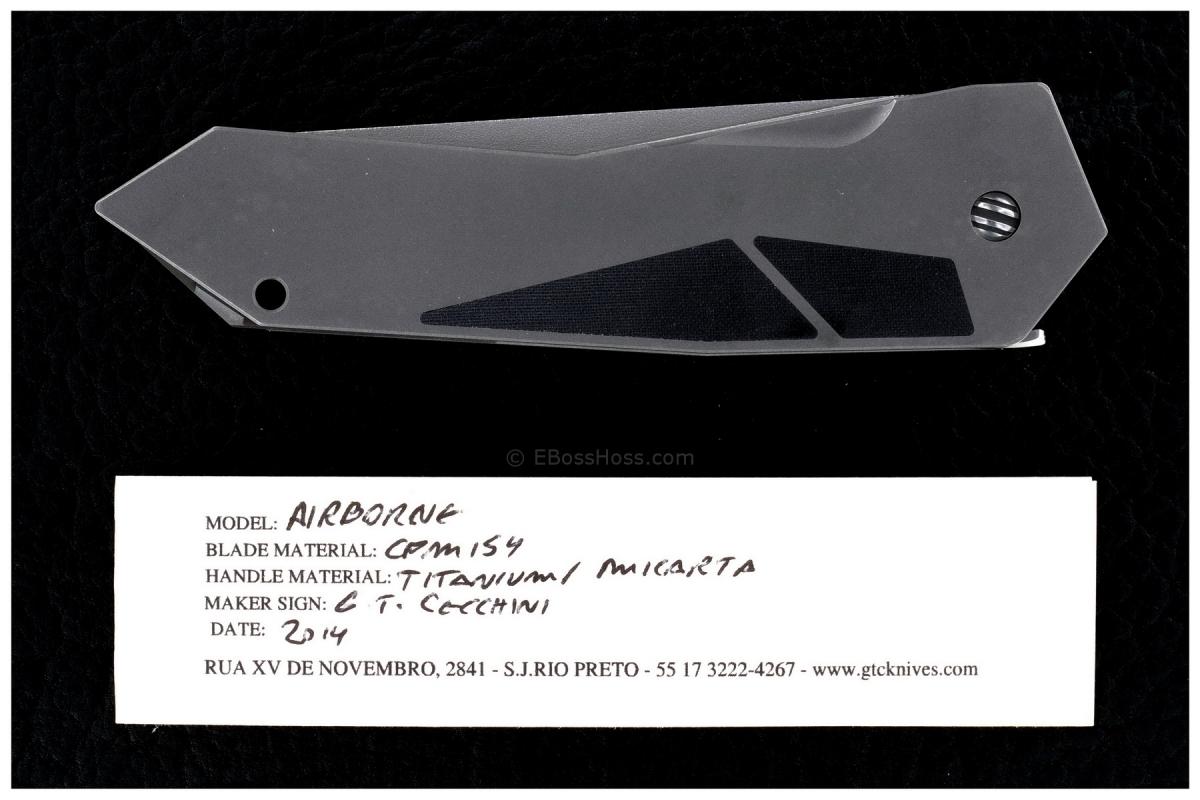 Gustavo Cecchini (GTC Knives)  Airborne SLT Flipper