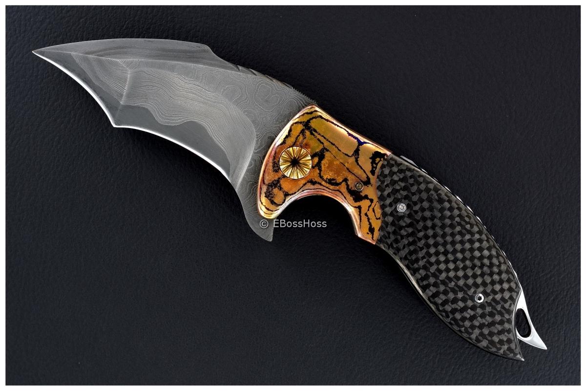 Alistair Bastian Knives Custom Deluxe Hornet Flipper