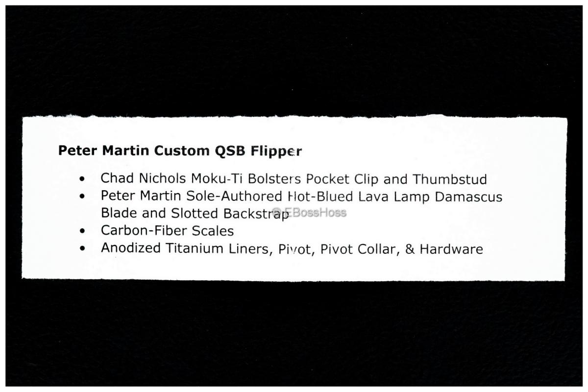 Peter Martin Custom Deluxe QSB Flipper