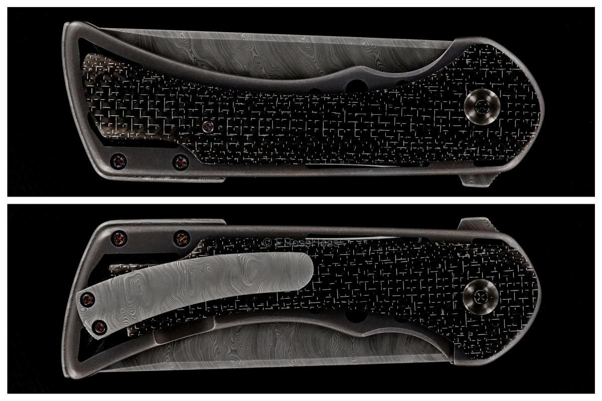 Rick Barrett Custom Tanto Honor Flipper