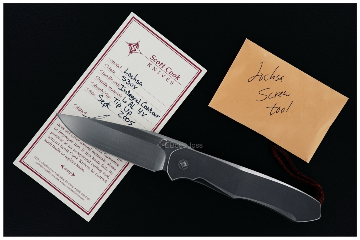 Scott Cook Custom Integral-Handle Lochsa