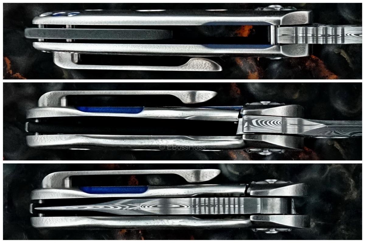 Michael Burch (Burchtree Bladeworks) Custom Micro Hybrid Flipper - 2017 TKI Lottery Knife