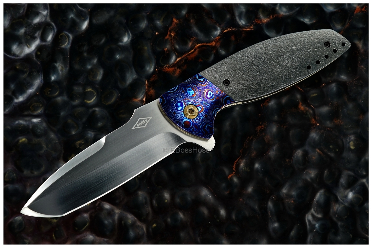 Peter Carey Custom Very Deluxe Cayman Tanto Flipper