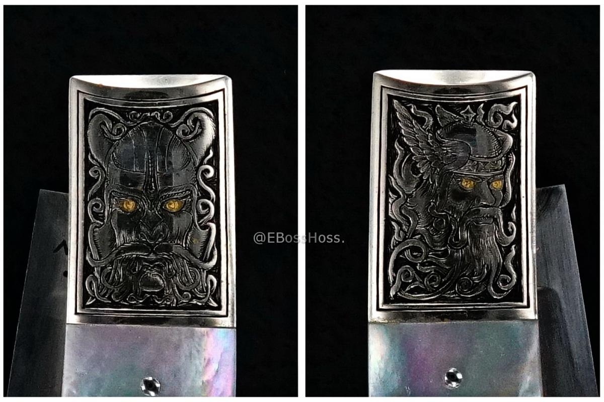 Jess Horn Custom Deluxe Baby Horn Lockback - Engraved by Rick Eaton