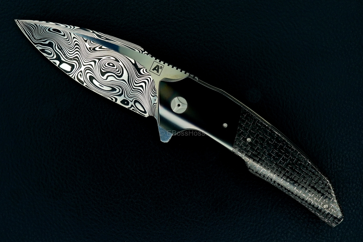 A2 Knives (Thorburn & van Heerden) & Tashi (Bharucha) Custom A6 Premium Flipper
