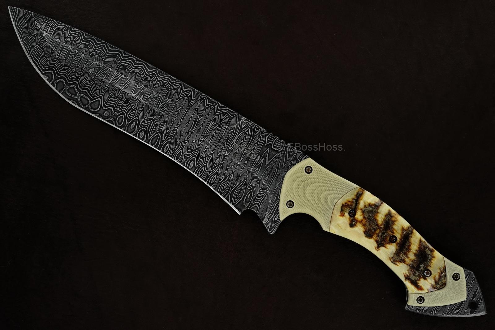 Jim Burke - Neil Blackwood Custom Deluxe Spearpoint Recurve Fixed Blade
