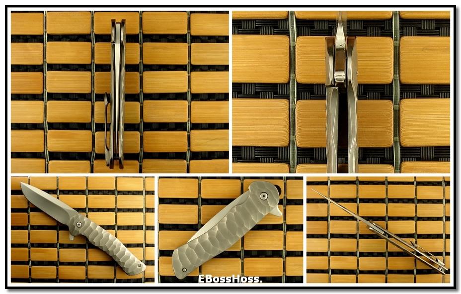 Matt Cucchiara Duke's Flipper Framelock -- Chippped Flint Titanium