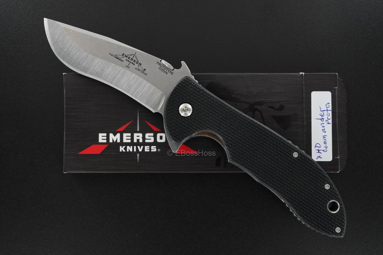 Ernie Emerson X-HD Commander Flipper Prototype Hand-ground by Ernie