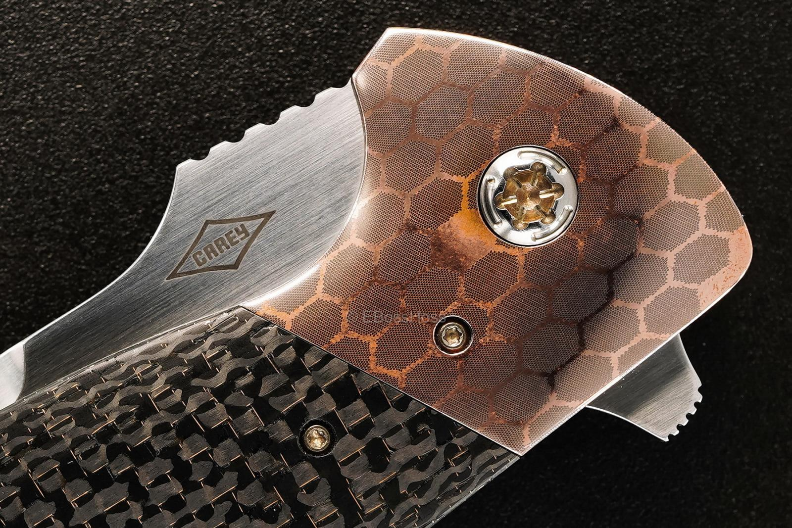 Peter Carey Custom Deluxe Cayman XL Tanto Flipper