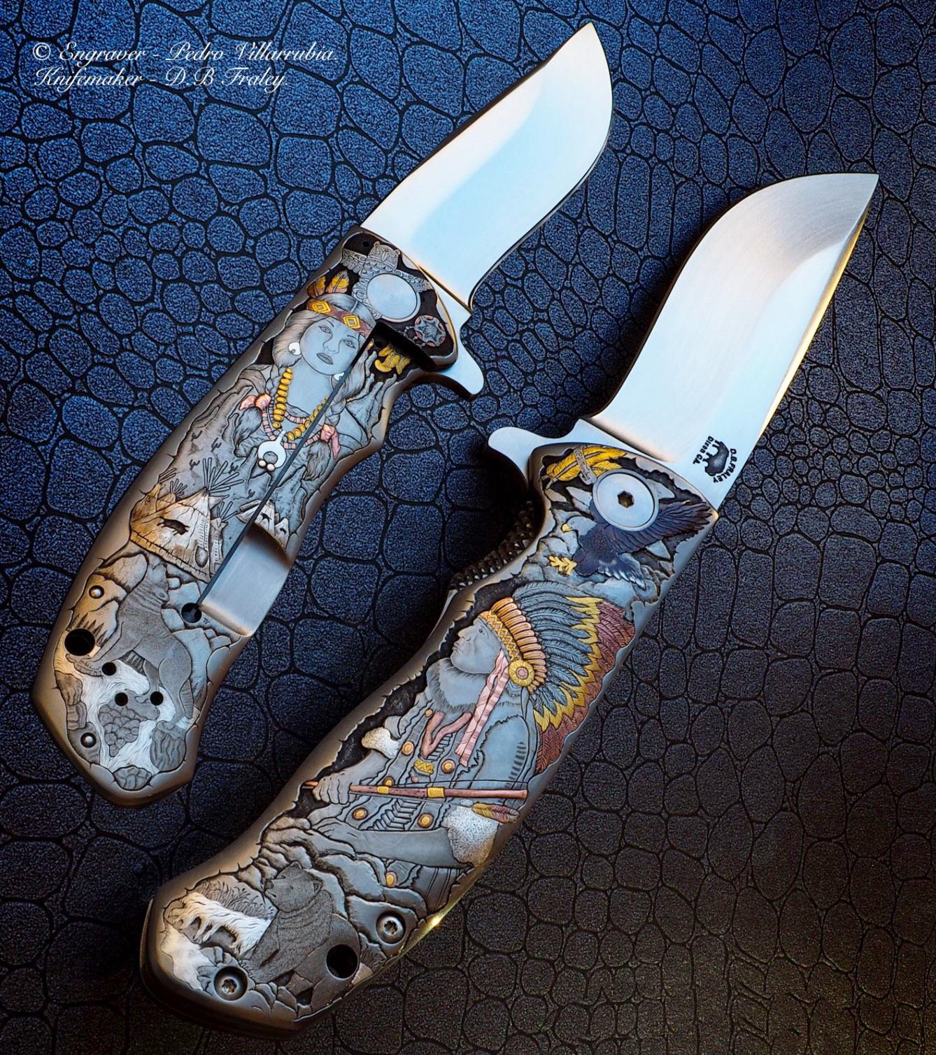 D.B. Fraley Custom Torrent Flipper - Masterfully engraved by Pedro Villarruibia