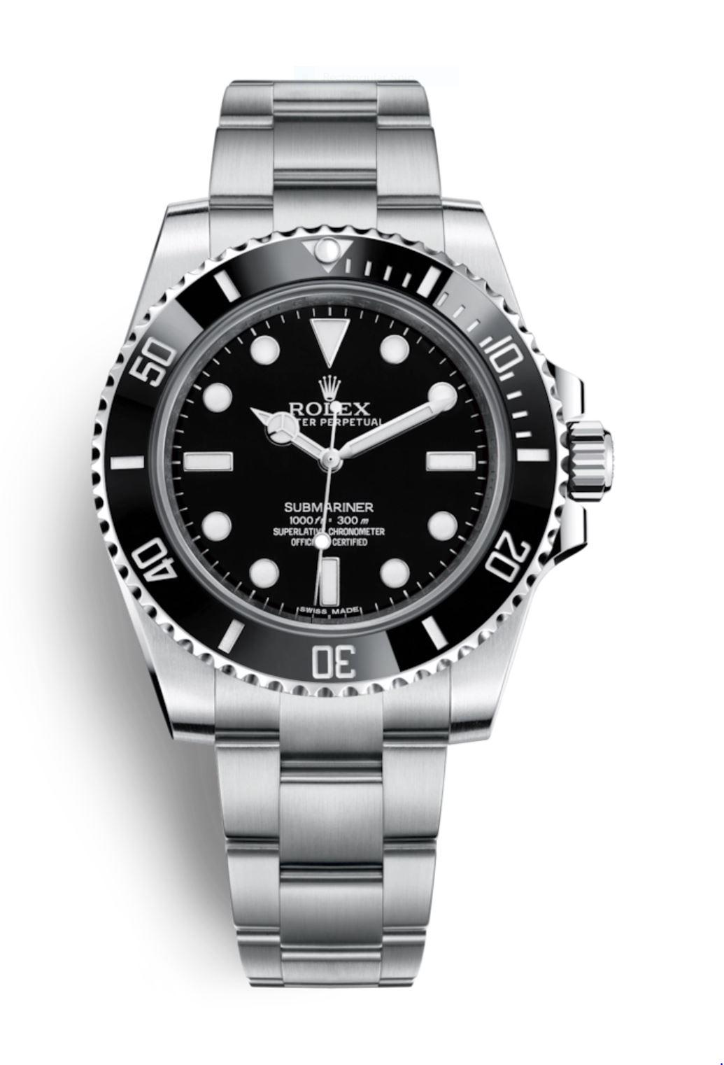 ROLEX Stainless-Steel No-Date Submariner - 114060LN