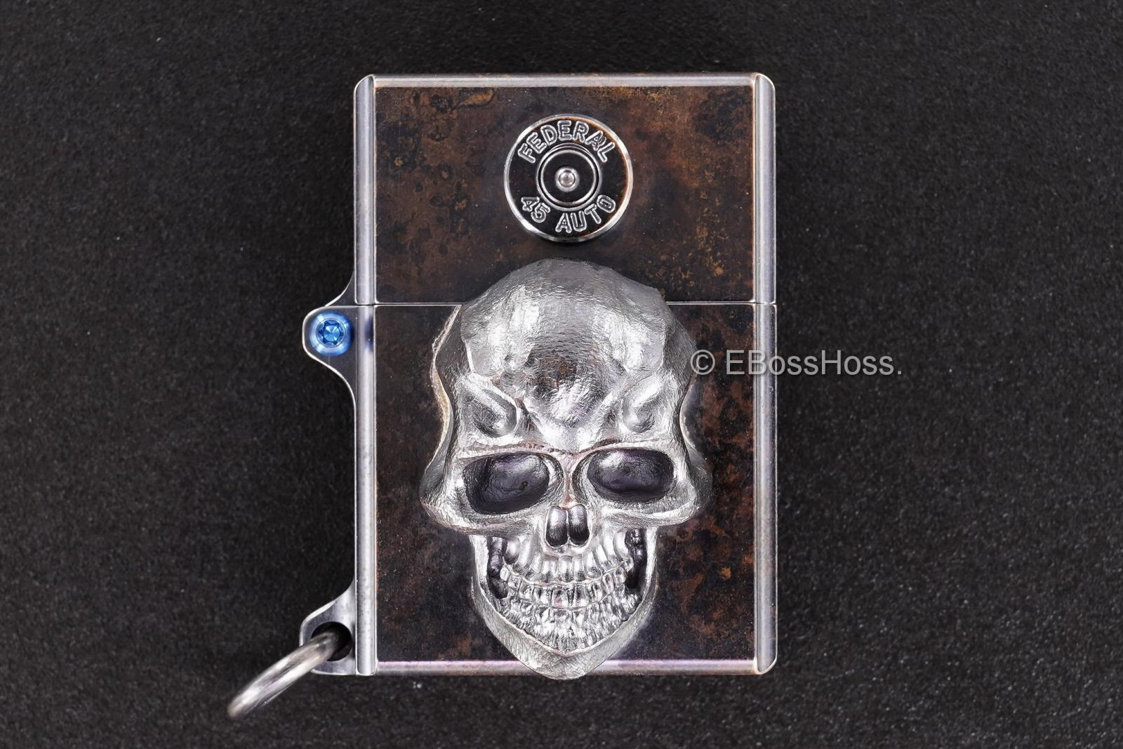 3D Sledge Bronze Lighter - with XXL Darkness & .45 Casing