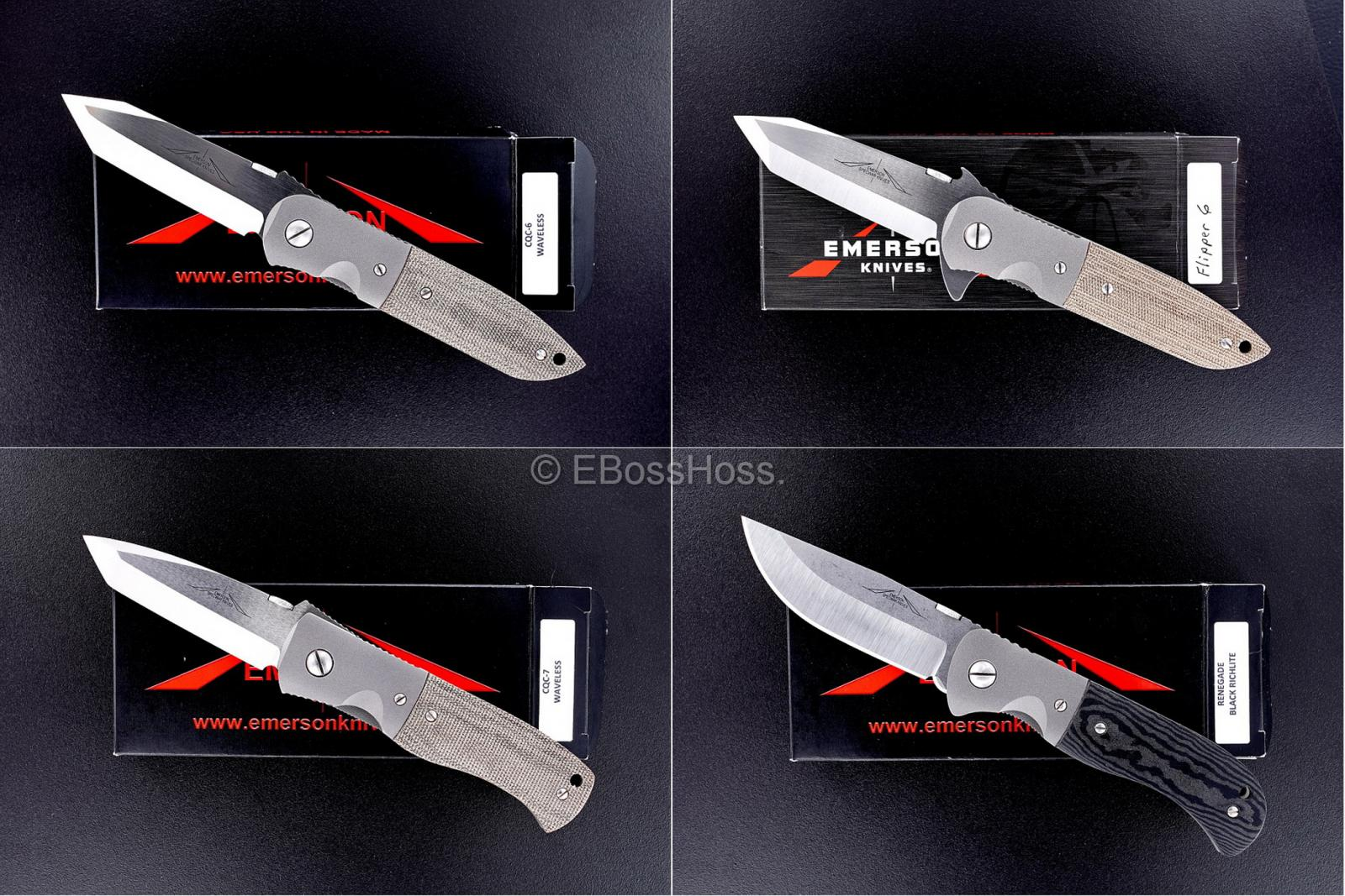 Ernie Emerson Very Desirable Custom (Specwar Knives Logo) Folders