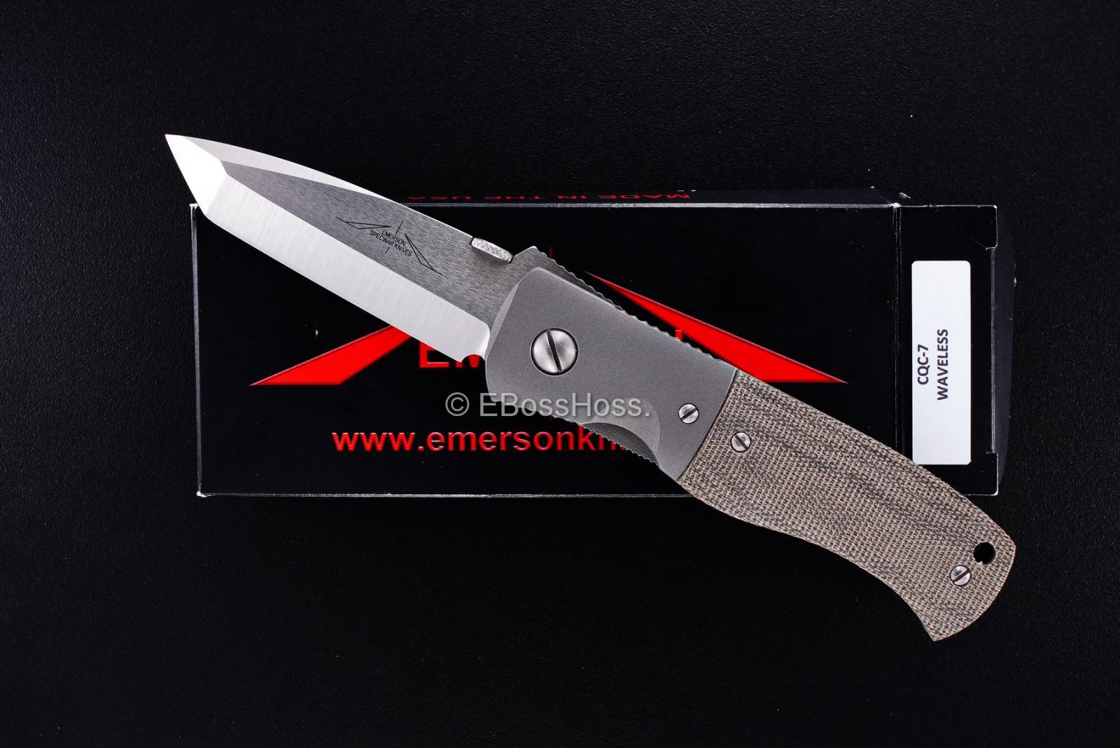 Ernie Emerson Custom Domed-Pivot Waveless CQC-7