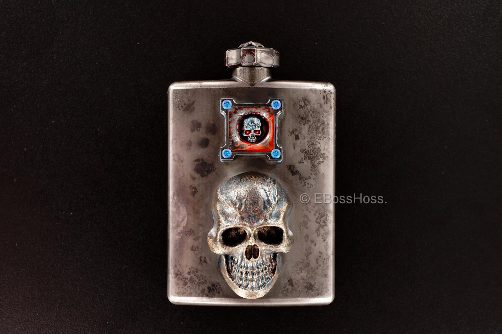 Steel Flame Custom Deluxe Sledge Flask with Dip Stick by Derrick Obatake