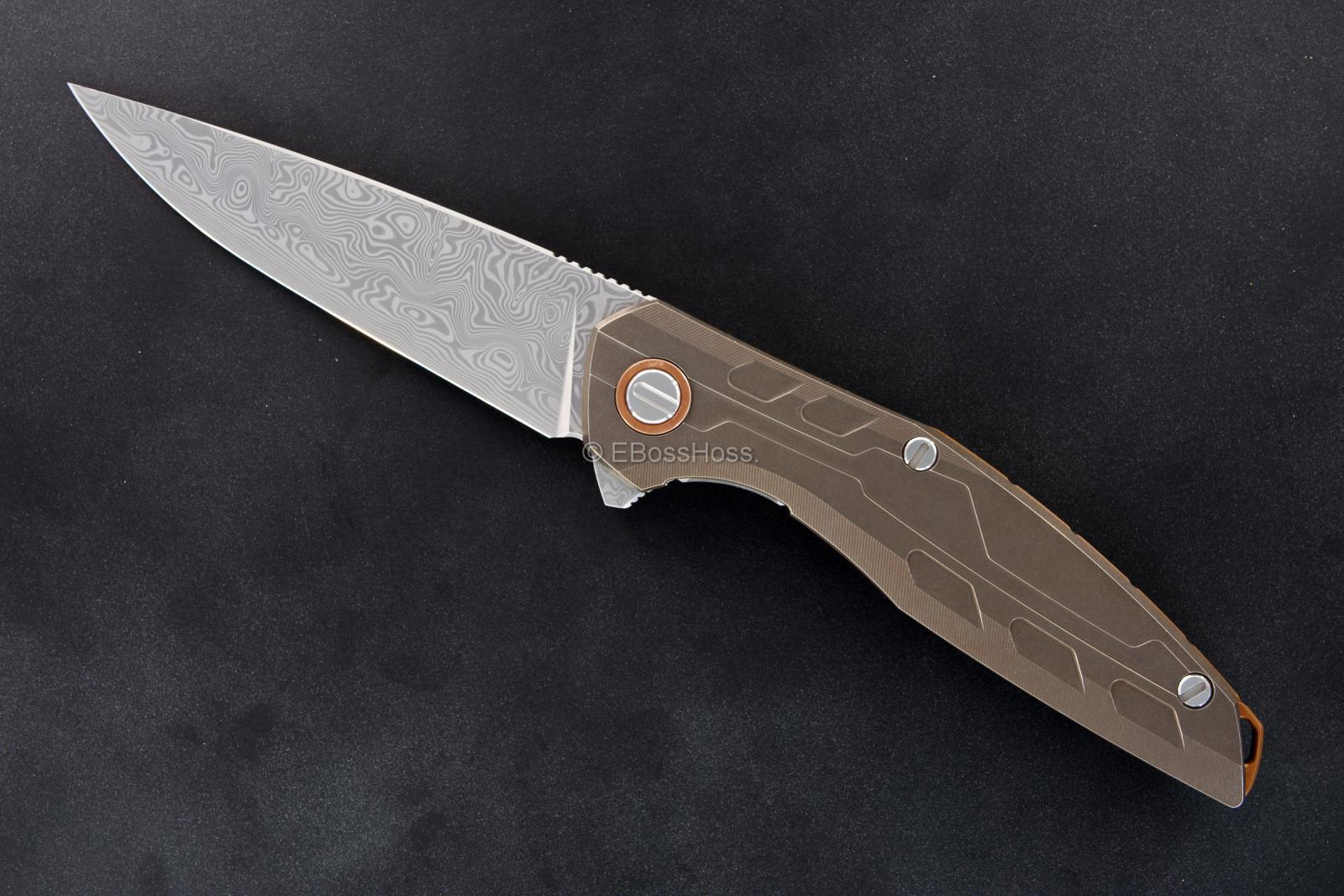 Sergey Shirogorov Custom Division Model 111 TI Bronze Flipper
