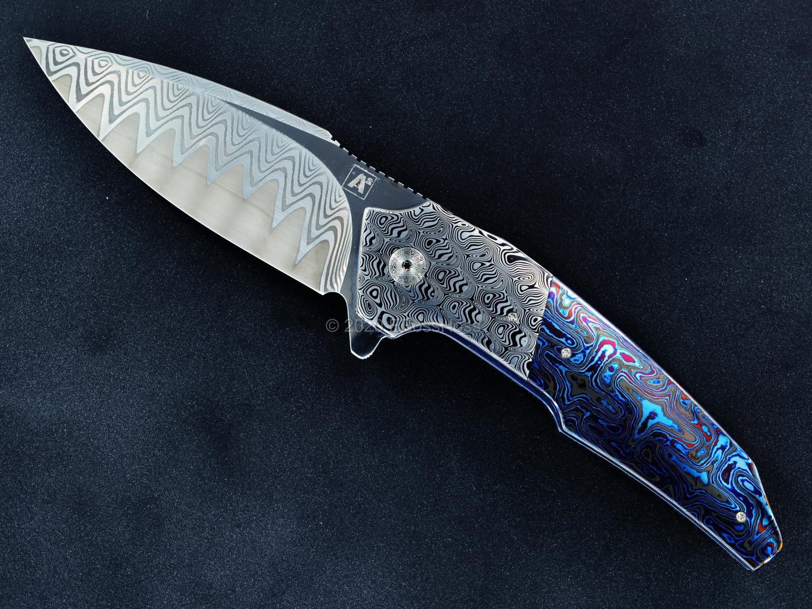 A2 Knives Custom A6 Very Premium Flipper