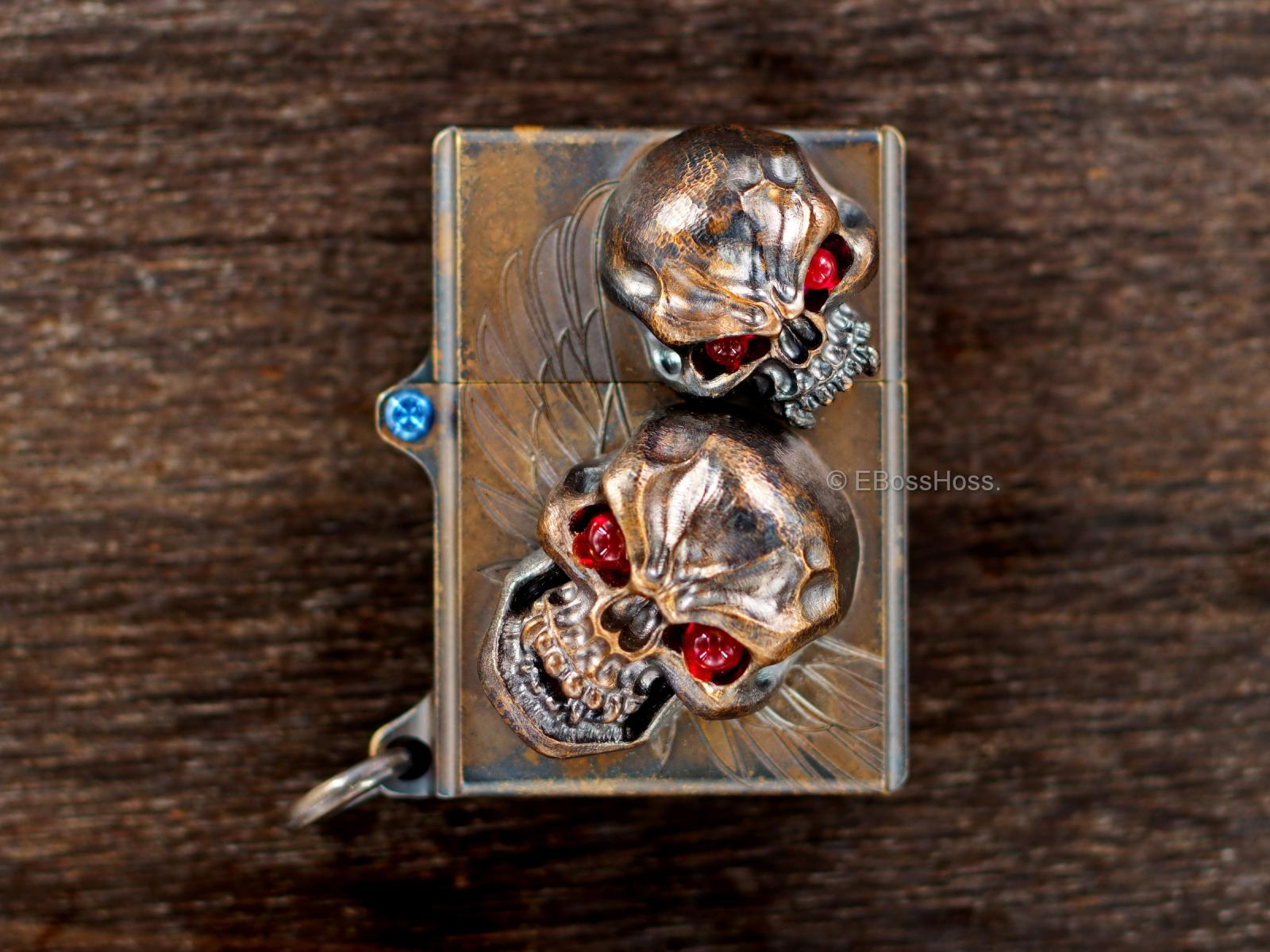 Derrick Obatke ''ONE'' Vigilant Skulled XL Sledge Lighter -- by  Steel Flame