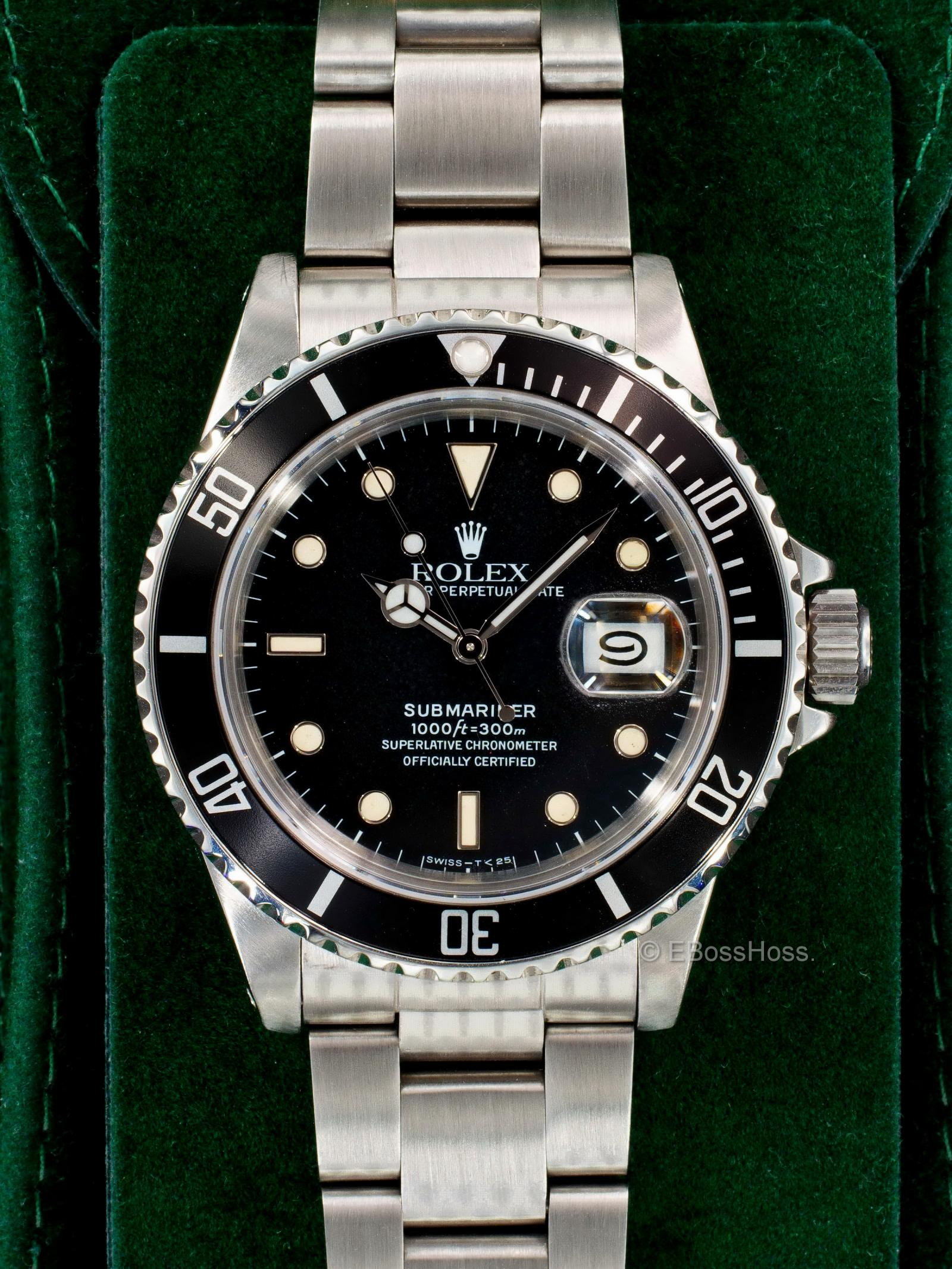 Rolex Vintage 1986 Rolex Submariner Date 16800 Watch