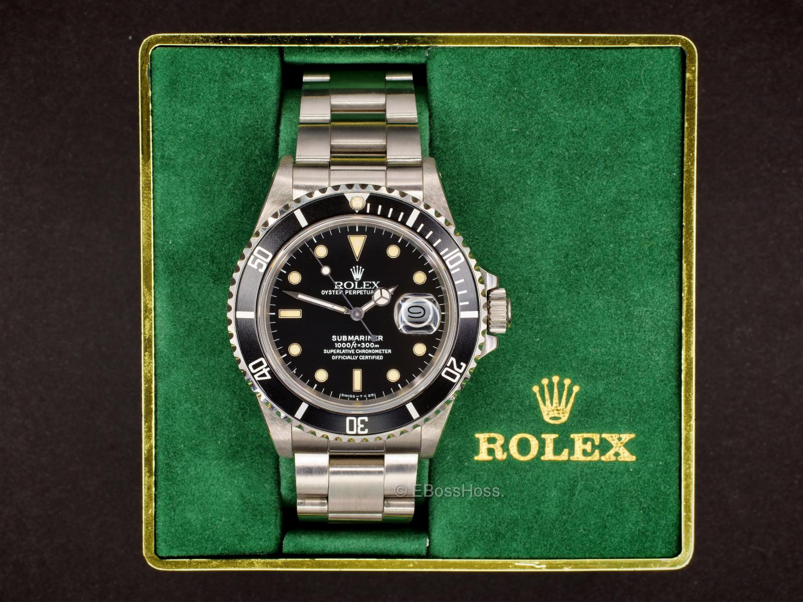 Rolex Vintage 1987 Submariner Date 168000 Transitional Watch