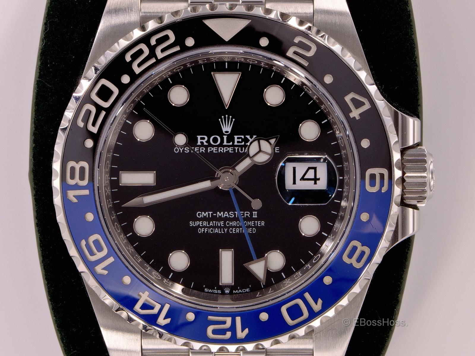 Rolex GMT Master II Batman Jubilee - 126710BLNR