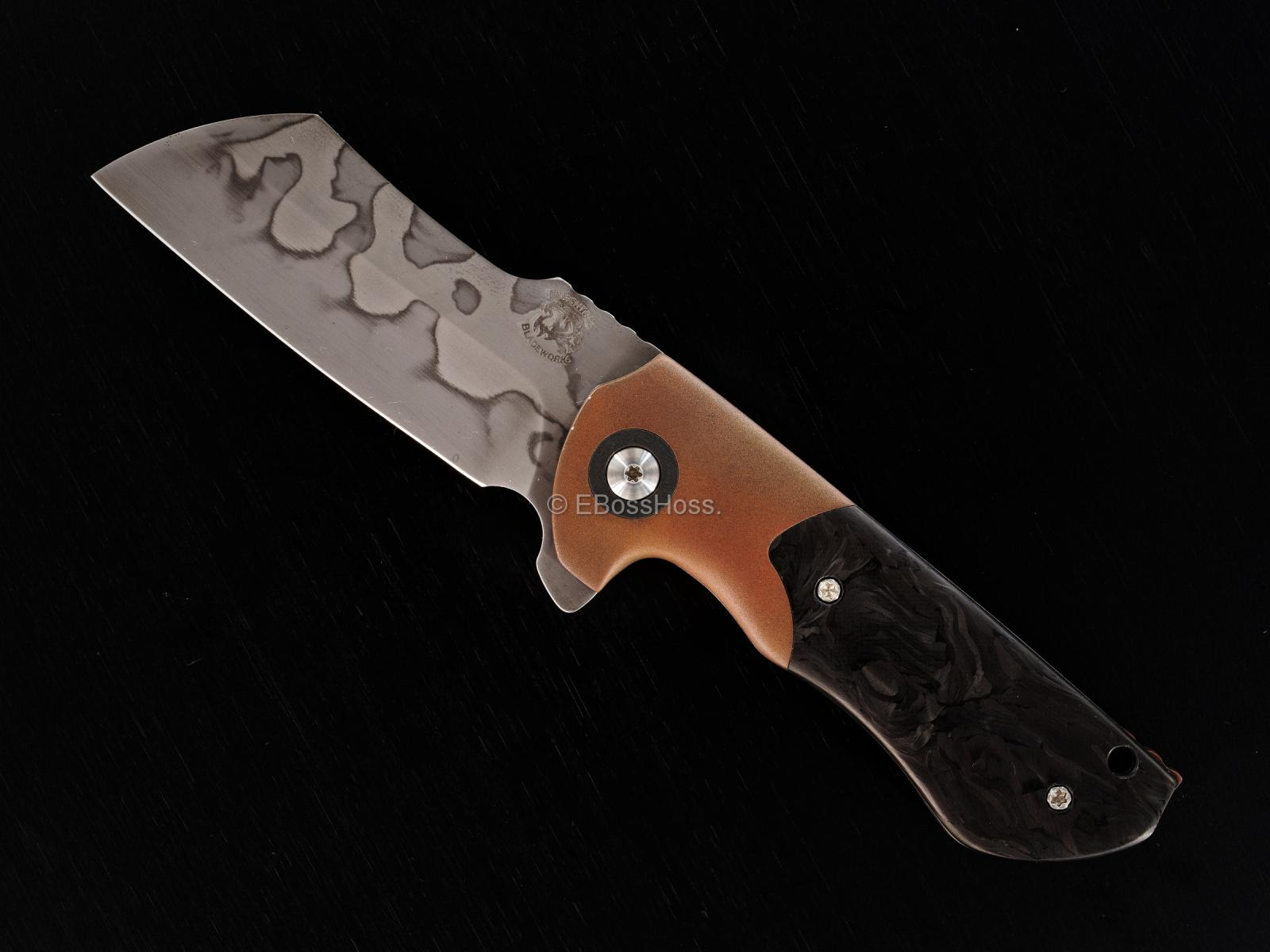 Michael Burch (Burchtree Bladeworks) Custom Very Deluxe Slim Dao Flipper